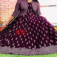 Digital Printed Readymade Gown