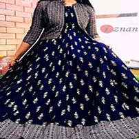 Stitched Long Evening Gown